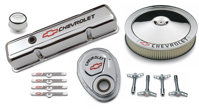 Street Performance Chrome Deluxe Dress-up Kit for Chevy small-block engines