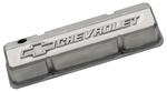 Unpolished Slant-Edge Aluminum Valve Covers with Raised Chevrolet Emblems