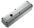 Polished Aluminum 2-Piece Valve Covers for Chevy small-block engines. No Emblems