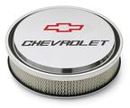 Chevrolet Slant-Edge Aluminum Air Cleaner, Polished, Recessed Emblems