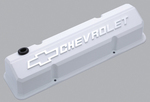 Collector's Series White Aluminum Slant-Edge Valve Covers