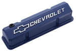 Collector's Series Blue Aluminum Slant-Edge Valve Covers