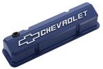 Collector's Series Blue Aluminum Slant-Edge Valve Covers