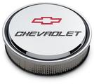 Chevrolet Slant-Edge Aluminum Air Cleaner, Chrome, Recessed Emblems