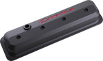 Black Crinkle Slant-Edge Valve Covers w/ Recessed Emblems