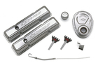Chrome Dress-Up Kit with Timing Chain Cover and Timing Tab for Chevy small-block engines
