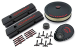 Black Crinkle Deluxe Dress-up Kit for Chevy small-block engines