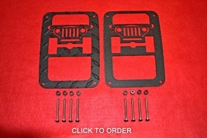JK TAILLIGHT GUARDS BLACK POWDER COAT