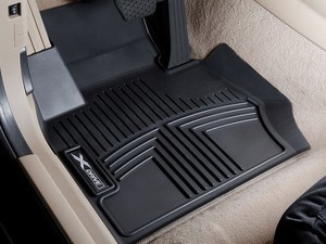All Weather Rubber Floor Liners, Front Set - BLACK