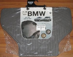 All Weather Rubber Floor Mats - Rear - Gray