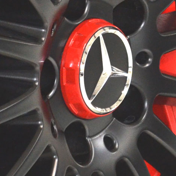 Amg Hub Cap - In Center Lock Design - Red