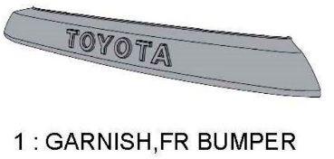TRD PRO 4Runner GARNISH FR BUMPER