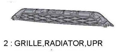 TRD PRO 4Runner GRILLE RADIATOR UPPER