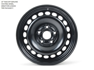 "GENUINE VOLKSWAGEN 15"" TAKE OFF WHEELS"