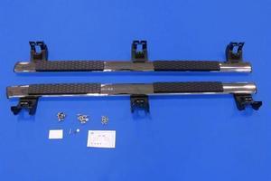 Side Rails, Tubular, Chromed Aluminum