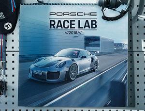"""2018 Porsche Calendar """"Race Lab"""""""
