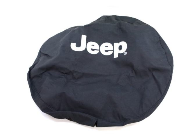 Spare Tire Cover, Cloth, Black Denim