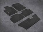Premium Carpet Floor Mats - Black -Third Row - Mopar