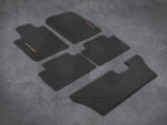 Premium Carpet Floor Mats - Black -Third Row - Mopar