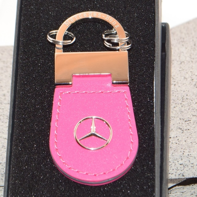 Pink Leather Key Chain