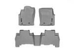 4Runner WeatherTech Floor Liners 2010 & Up Model Gray Front & Rear Set