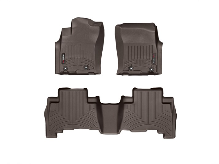 4Runner WeatherTech Floor Liners 2013-2017 Model Cocoa Front & Rear Set