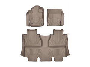 Tundra WeatherTech Floor Liners 2014-2017 Model Crew Cab Tan Front & Rear Set
