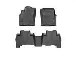 4Runner WeatherTech Floor Liners 2010 & Up Model Black Front & Rear Set