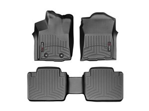 Tacoma WeatherTech Floor Liners 2016-2017 Model Access Cab Black Front & Rear