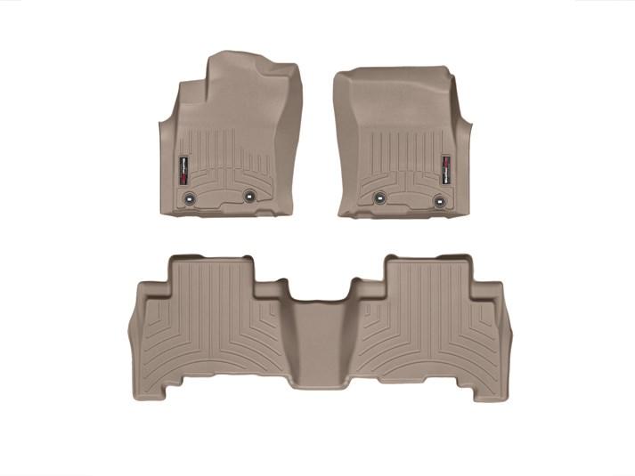 4Runner WeatherTech Floor Liners 2010 & Up Model Tan Front & Rear Set