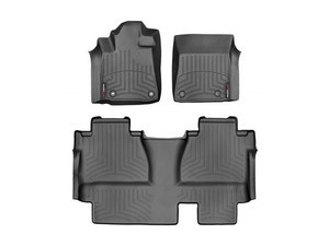 Tundra WeatherTech Floor Liners 2014-2017 Model Double Cab Black Front & Rear Setodel Double Cab Black Front & Rear Set