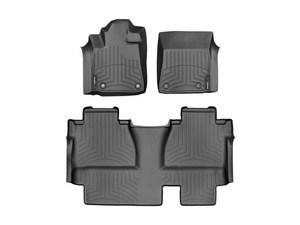 Tundra WeatherTech Floor Liners 2014-2017 Model Double Cab Black Front & Rear Setodel Double Cab Black Front & Rear Set