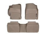 Camry WeatherTech Floor Liners 2012-2014 Model Tan Front & Rear Set