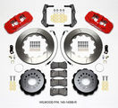 Challenger Charger Rear Big Brake Kit Calipers Slotted Drill Rotors Red Wilwood