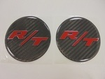 Challenger Charger Under Hood Beverage Delete Emblem Decal Carbon Fiber R/T