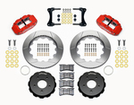 07-18 Jeep Wrangler Front Big Brake Kit Calipers Slotted Rotors Red Wilwood