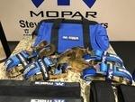 Mac's Custom Tie Downs Pro Pack Race Car Trailer Ratchet 40 in Axle Strap 8 Blue