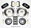 Challenger Charger Rear Big Brake Kit Calipers Slotted Rotors Black Wilwood