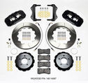 Challenger Charger Front Big Brake Kit Calipers Slotted Rotors Black Wilwood 6
