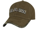 New Ram Distressed Camo Cap Baseball Hat Cap Mossy Oak One Size Mopar Cotton