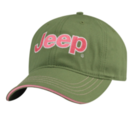 New Jeep ® Ladies Lady Fun Cap Baseball Hat Cap Embroidered Green Pink Mopar