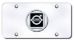 Silver Volvo Logo License Plate