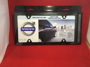 License Plate Frame - Black - Slimline