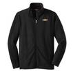 Navy Full-Zip Micro-fleece With Bowtie-XL