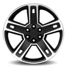 "22"" wheel aluminum gloss black"