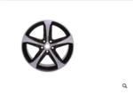 19x7.5-Inch Aluminum 5-Spoke Wheel (Dark Argent Mate) does not include center caps