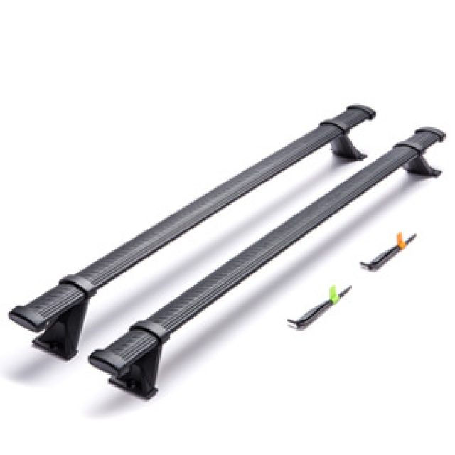Removable Roof Rack Cross Rails (Black)