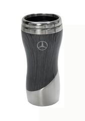 Double Wall Stainless Steel Wood Grain Tumbler (Grey)