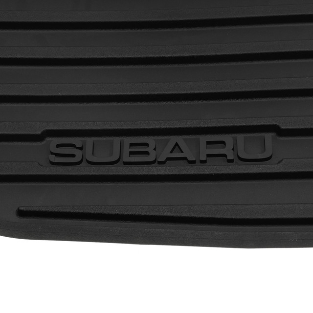 2010-2014 Subaru Legacy & Outback All Weather Floor Mats Dark Grey Rubber OE NEW