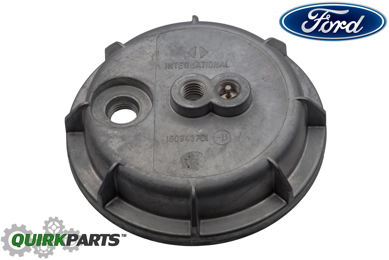 Ford 7.3L Diesel IDI Fuel Filter Housing Bottom Lower Cap Cover OEM  E8TZ9A343A - Ford (E8TZ-9A343-A) | Quirk Parts